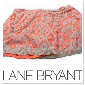 🆕 Lane Bryant peach shorts with lace